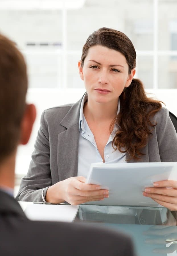 A member of BPS Security's private investigators team who is interviewing a suspect after the company decided to hire a PI